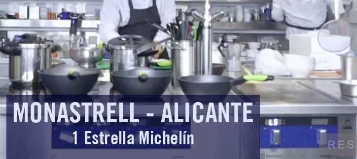 Monastrell 1 estrella michelín Alicante