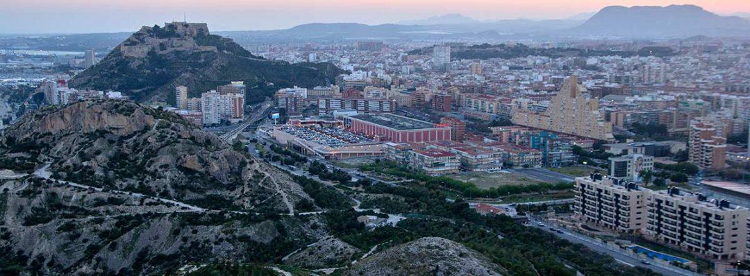 Vistas desde la Serra Grossa en Alicante