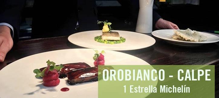 Orobianco estrella michelin en calpe