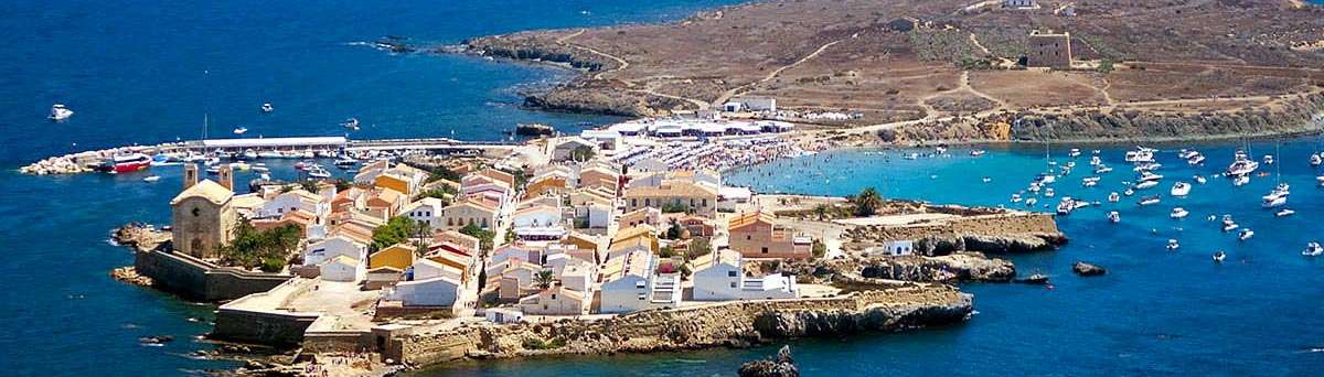 Plano aereo de la isla de Tabraca en Alicante
