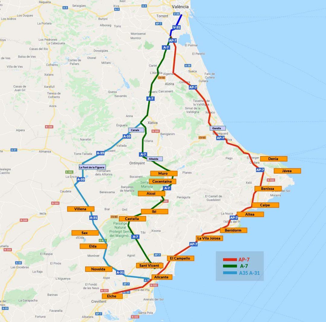 Valencia Alicante En Coche Por 3 Rutas Distintas