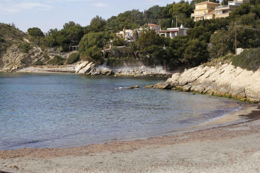 Cala d'enmig en la Provincia de Alicante El Campello