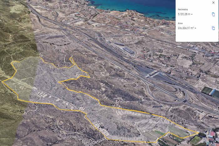 Mapa de la ruta de Les Puntes de Gosálvez El Campello