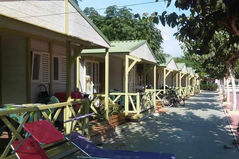 Plano casitas prefabricadas camping el jardín en El Campello