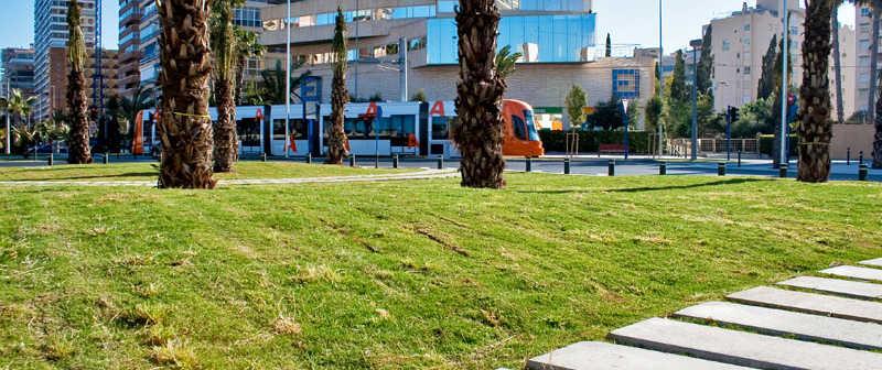 Tram Alicante linea 4 Plaza La Coruña