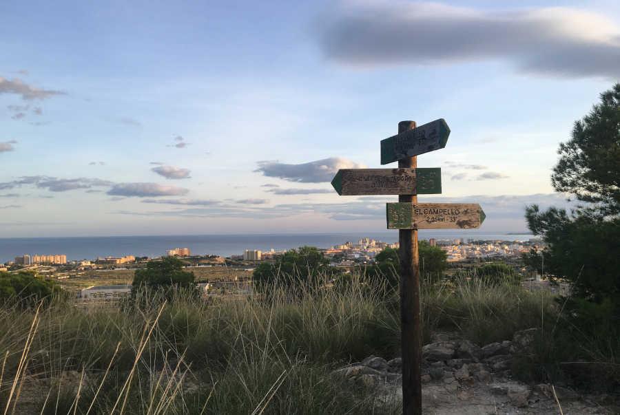 Poste señalizador ruta Puntes de Gosalvez