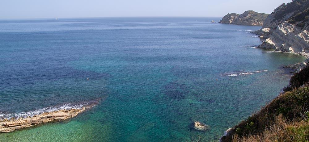 Vistas Caleta y Playa Sardinera