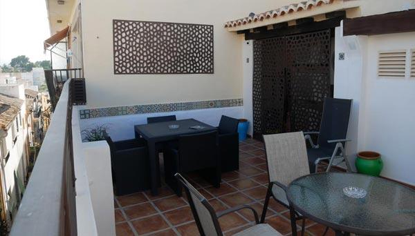 Terraza guest House Jávea