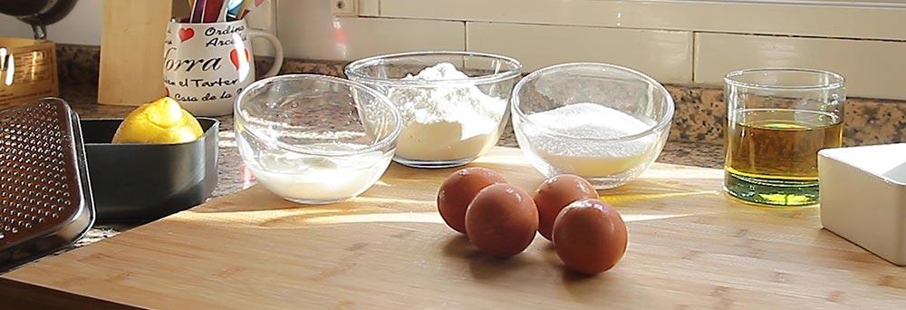 Ingrdientes utilizados para la coca con yogur
