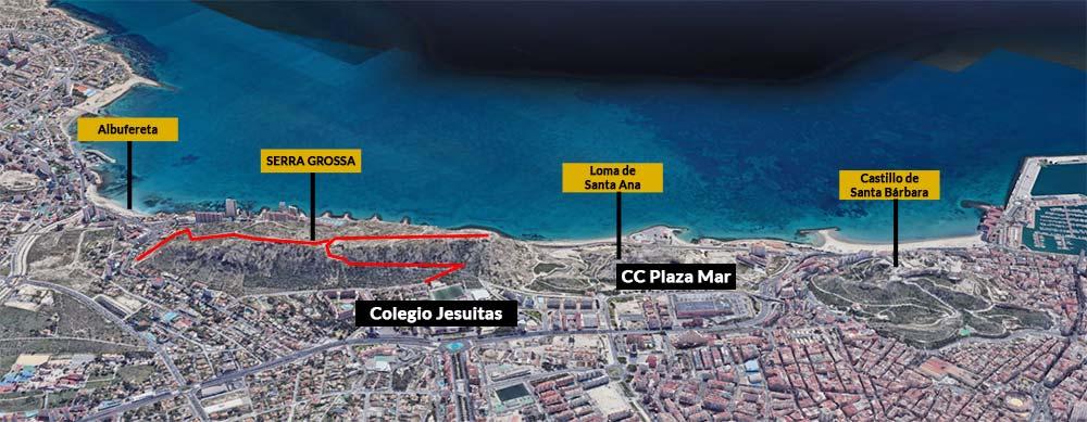 mapa de Serra Grossa y alrededores
