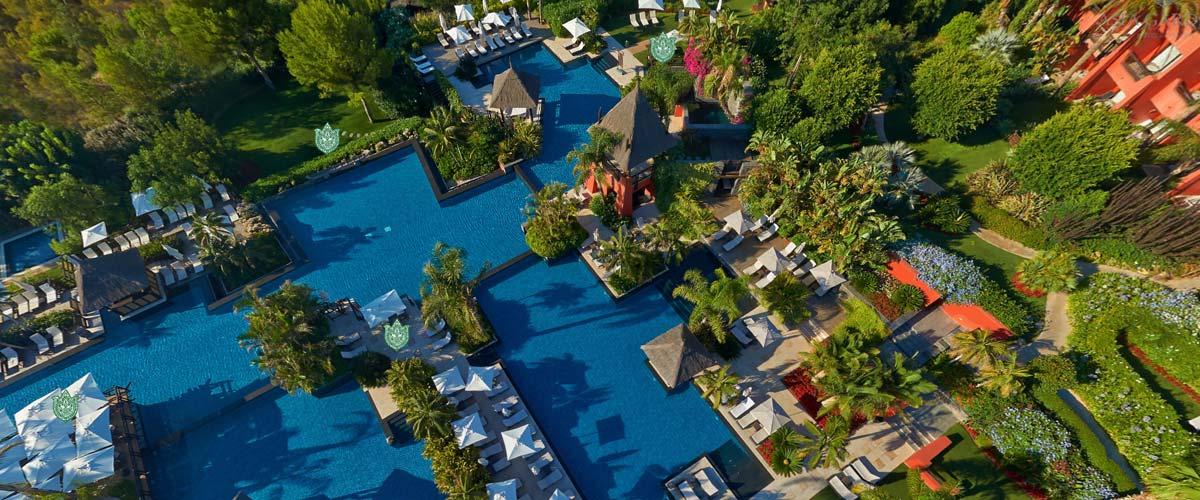 Cenital del Hotel de % estrellas Asia Gardens en Benidorm