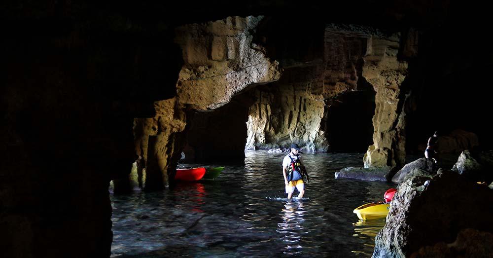 Plano general del interior de la Cova Tallada