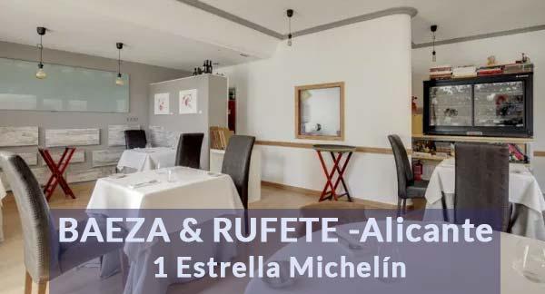 Foto interior Baeza & Rufete estrella Michelín