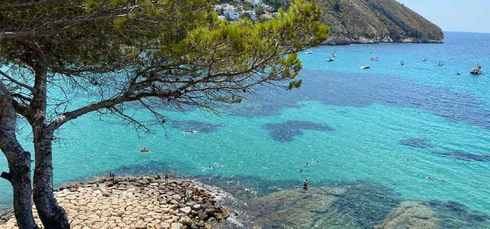 Plano General Playas en Moraira: El Portet