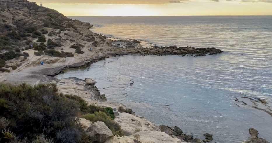 Cala de la Palmera en el Cabo de la Huerta